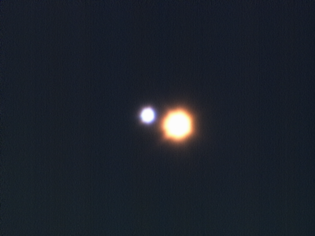The two brightest stars that form Almach.