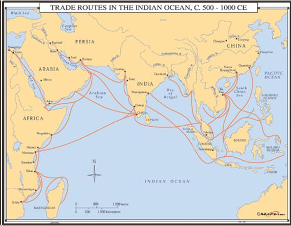 Indian Ocean Trade on india china map, india trade route art, india road map, india terrain map, india travel map, india culture map, india british empire map, india africa map, india russia map,